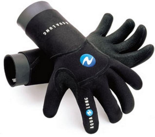 Černé neoprenové rukavice Aqualung Dry Comfort Neoprene Gloves 4mm