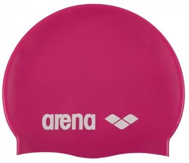 Klasická silikonová čepice Arena růžová