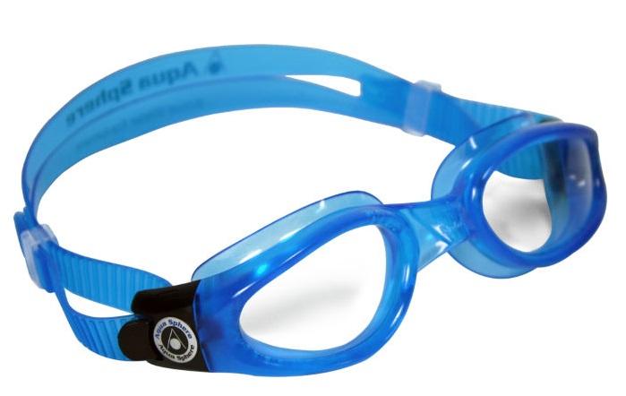 Uprostřed rozdvojený pásek plaveckých brýlí
