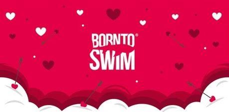 Ručník BornToSwim Valentýn červený