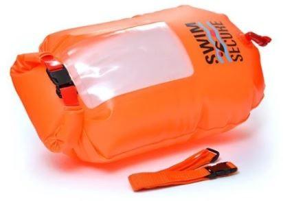 Swimming buoy Swim secure Dry bag window orange