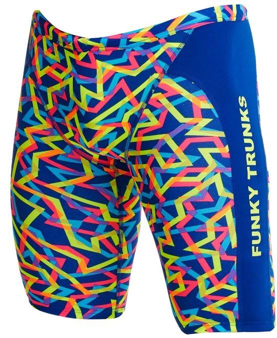 Pánské barevné plavky typu jammers Funky Trunks Noodle bar z kolekce 2020.
