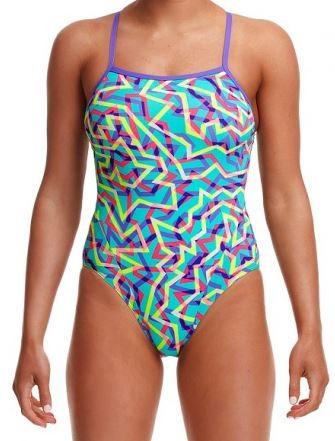 Dámské jednodílné plavky Funkita Mint Strips 2020.