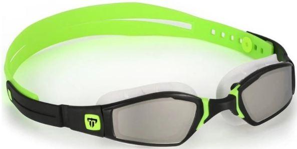 Černo-zelené závodní plavecké brýle Michael Phelps Ninja Mirror