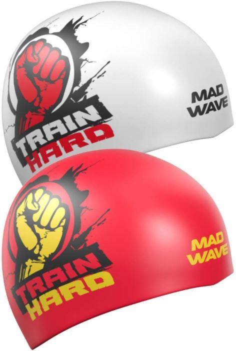 Plavecká čepice Mad Wave Train Hard Reversible Swim Cap