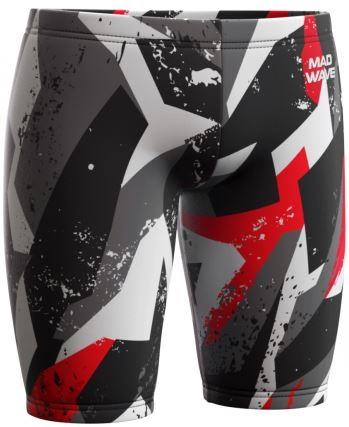 Pánské plavky s nohavičkou Mad Wave Drive J1 Jammer Antichlor Red