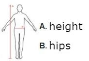 Simple size chart of swimwear for men