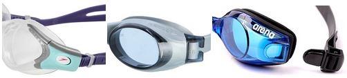 Postranní klipy u očnic plaveckých brýlí