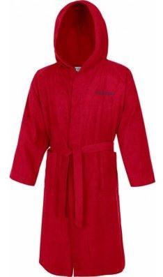 Červený župan Speedo bathrobe microfiber
