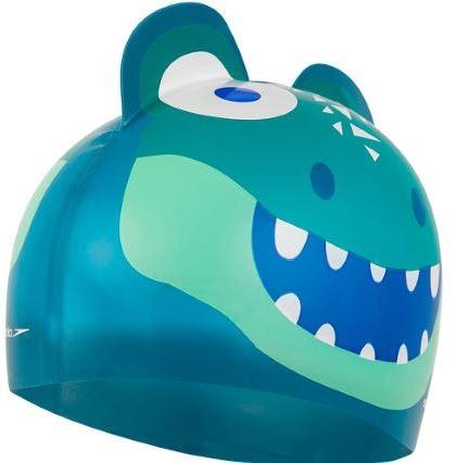 Dětská plavecká čepice Speedo, zelená.