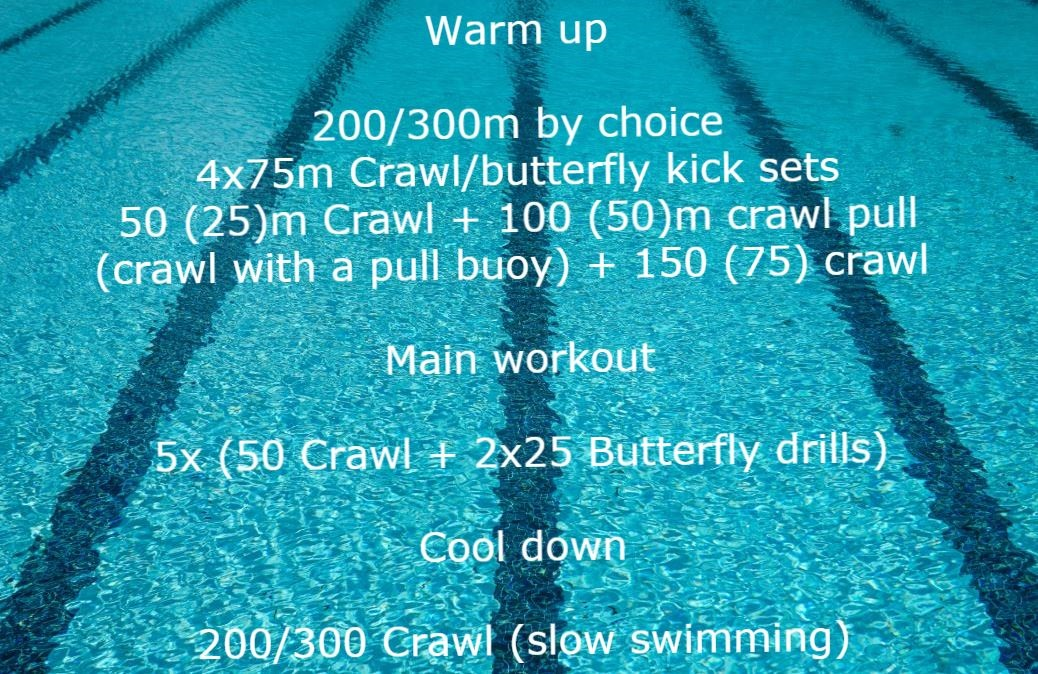 Workout plan for swimmers. Warm up
