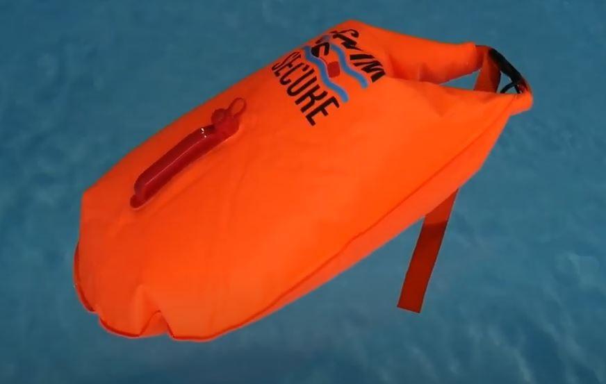 Plavecká oranžová bójka Swim Secure Tow Float Elite