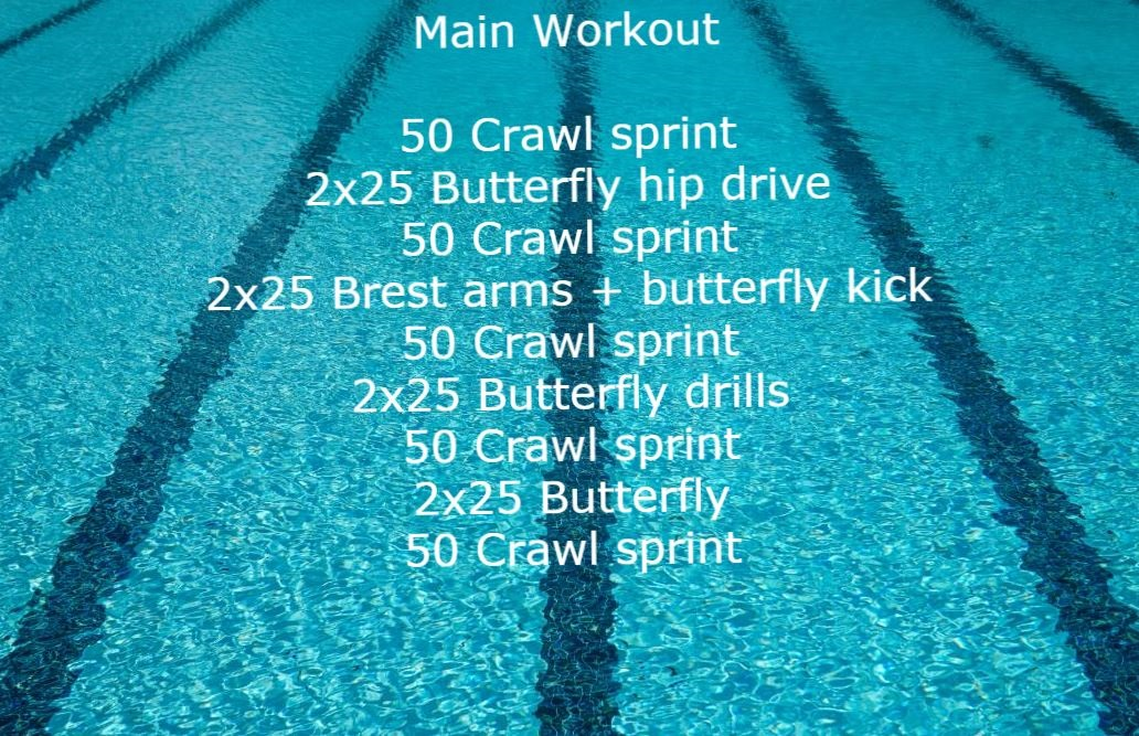 Workout plan for swimmers. Main part