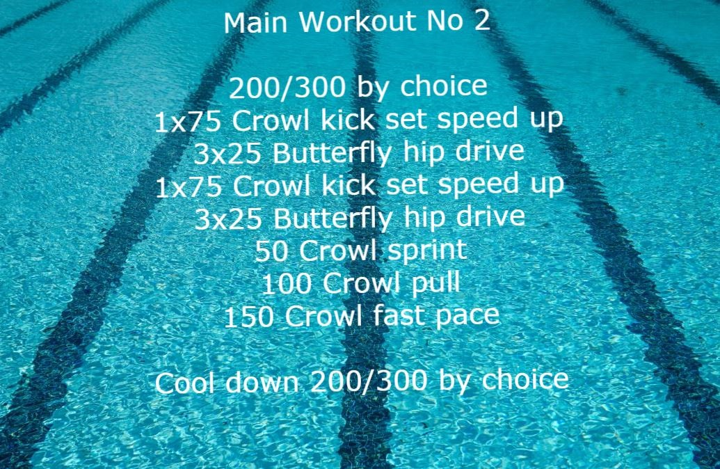 Workout plan for swimmers. Cool down
