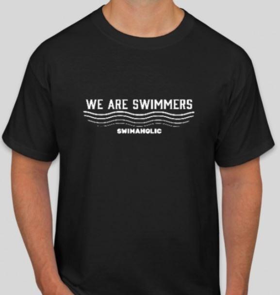Pánské černé tričko s krátkým rukávem Swimaholic