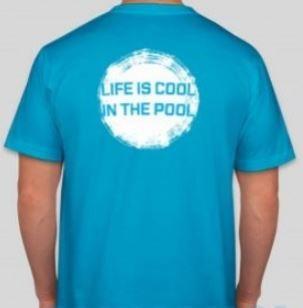 Pánské modré tričko s krátkým rukávem Swimaholic