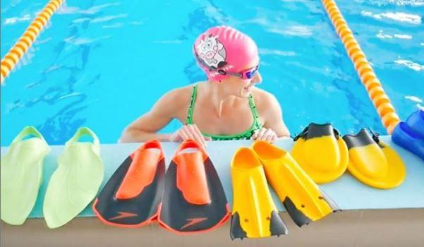 Tréninkové plavecké ploutve různých značek