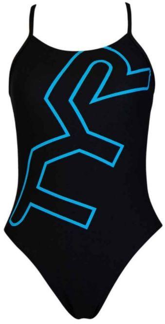 Dámské jednodílné plavky Tyr Big Logo Cutoutfit