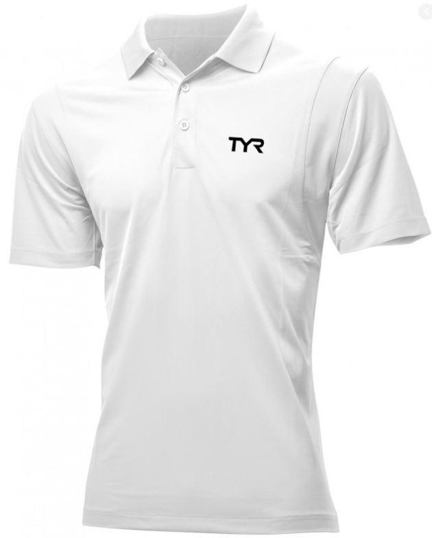 Pánské polo tričko Tyr s krátkým rukávem v bílé barvě.