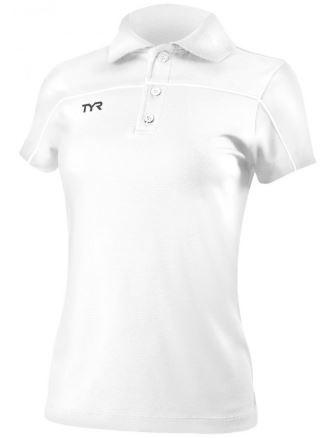 Dámské polo tričko Tyr s krátkým rukávem v bílé barvě.