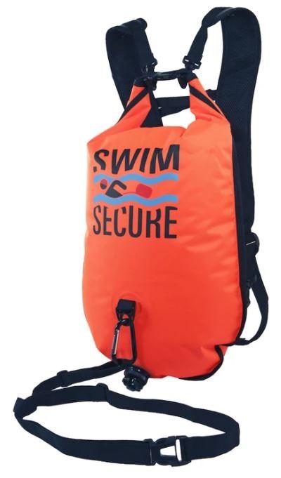 Swimming backpack buoy Swim secure swim bag