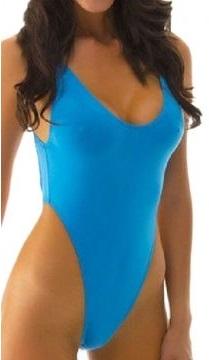 Dámské sportovní plavky s vysokým vykrojením