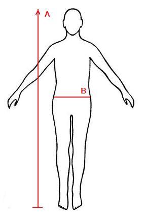 Partie, kde se měří rozměry pánských plavek.
