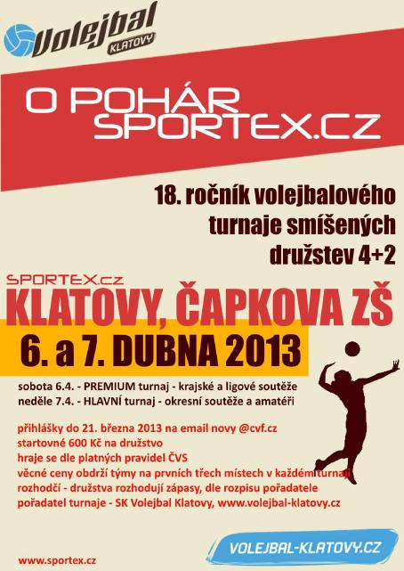 Volejbalový turnaj O pohár Sportex.cz
