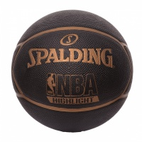 Basketbalový míč Spalding NBA Highlight Black