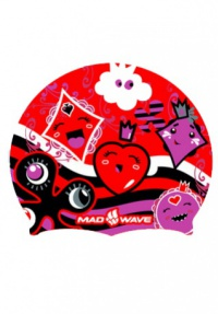 Plavecká čepička Mad Wave Bubble Cards Silicone