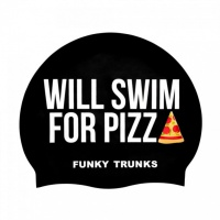 Funky Trunks Will Swim 4 Pizza cap