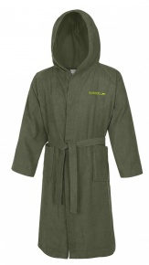Speedo Bathrobe Microterry Army Green