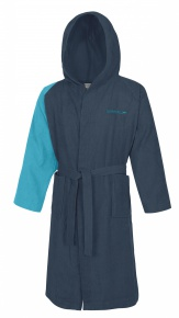 Speedo Bathrobe Microterry Bicolor Navy/Aquarium
