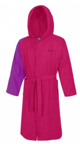 Speedo Bathrobe Microterry Bicolor Pink