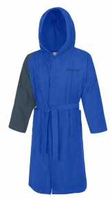 Speedo Bathrobe Microterry Bicolor Blue
