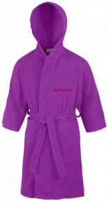 Speedo Bathrobe Microterry Junior Purple