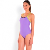 Speedo Placement Thinstrap Muscleback Purple/Green