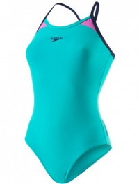 Speedo Splice Thinstrap Racerback Green/Navy