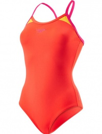 Speedo Splice Thinstrap Racerback Red/Pink