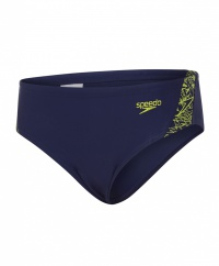 Speedo Boom Splice 6.5cm Brief Junior Navy/Lime