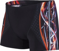Speedo Placement Digital V Aquashort Black/Orange