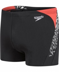 Speedo Boom Splice Aquashort Black/White/Red