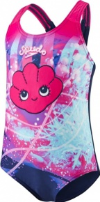 Speedo Tidal Idol Essential Applique 1 Piece Pink/Navy