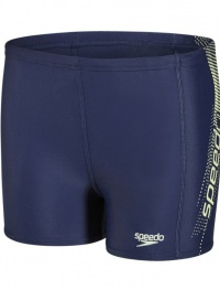 Speedo Sports Logo Panel Aquashort Navy/Lemon