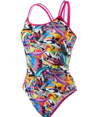 Speedo Double Crossback Pink/Orchid/Black