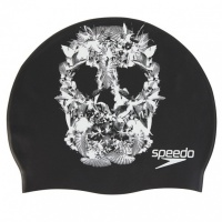 Speedo Slogan Print Cap Black/White