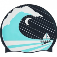 Speedo Slogan Print Cap Speedo Navy/Spearmint/White