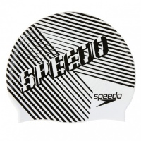 Speedo Slogan Cap Junior Black/White