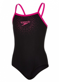 Speedo Gala Logo Thinstrap Muscleback Black/Pink
