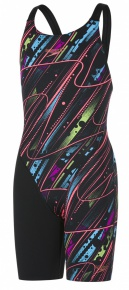 Speedo Fastskin Endurance+ Openback Kneeskin Black/Red/Green